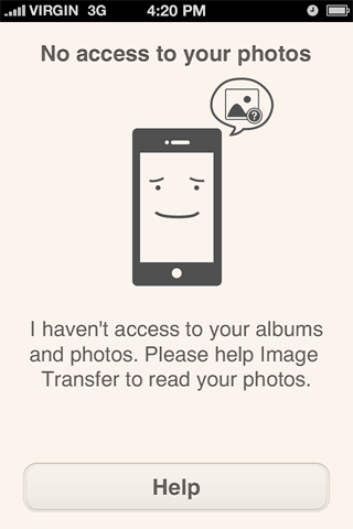 Если пользователь не дал доступ к фотографиям на устройстве