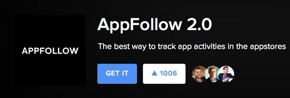 AppFollow 2.0 на Product Hunt, на 16 сентября 2016 года