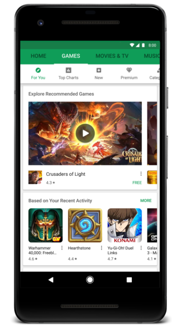 Новые возможности Google Play