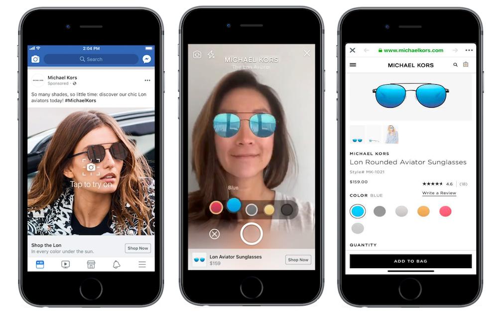 Фейсбук тестирует AR-рекламу